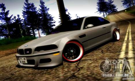 BMW M3 JDM Tuning para GTA San Andreas vista superior