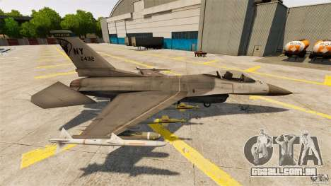 F-16C Fighting Falcon para GTA 4 esquerda vista