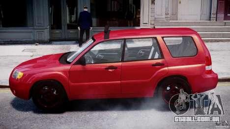 Subaru Forester v2.0 para GTA 4 traseira esquerda vista