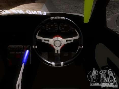Nissan Silvia S13 Drift Style para GTA San Andreas vista interior