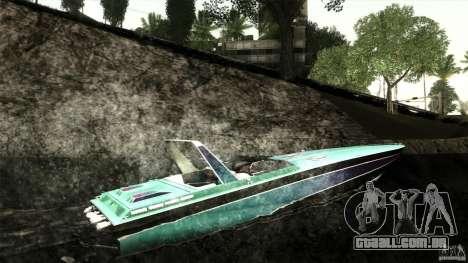 Wellcraft 38 Scarab KV para GTA San Andreas vista direita