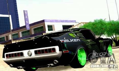 Shelby GT500 Monster Drift para GTA San Andreas vista direita