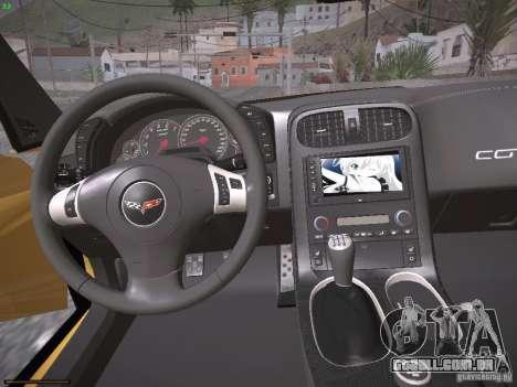 Chevrolet Corvette ZR1 para o motor de GTA San Andreas