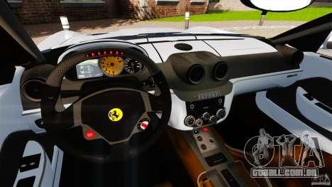 Ferrari 599 GTB Fiorano 2006 para GTA 4 vista de volta