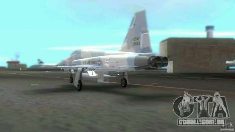 US Air Force para GTA Vice City vista traseira