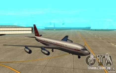 Qantas 707B para GTA San Andreas traseira esquerda vista