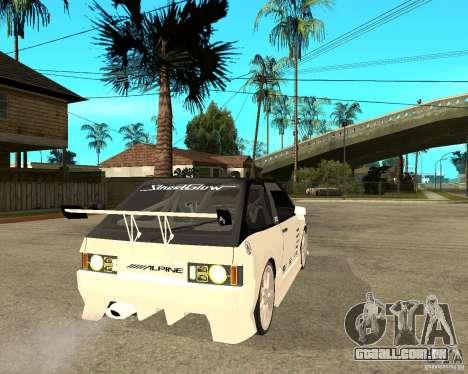 VAZ 2108 extremo para GTA San Andreas traseira esquerda vista