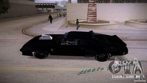 Ford Falcon GT Pursuit Special V8 Interceptor 79 para GTA Vice City vista traseira esquerda