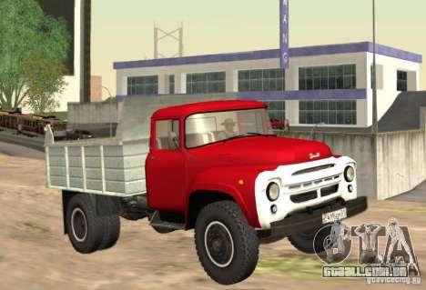 MMZ ZIL 130 4502 para GTA San Andreas esquerda vista