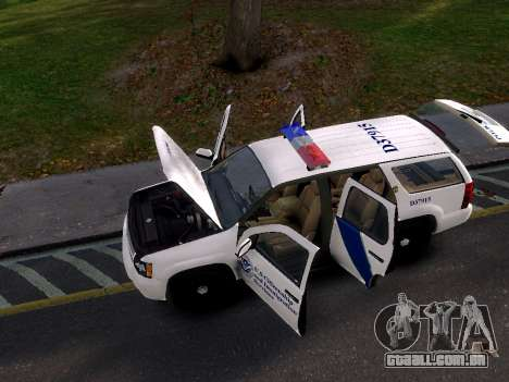 Chevrolet Tahoe Homeland Security para GTA 4 vista direita