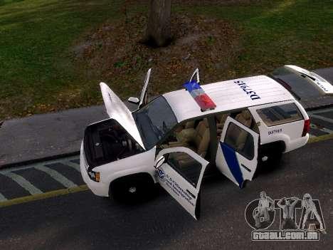 Chevrolet Tahoe Homeland Security para GTA 4 vista direita