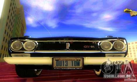Nissan Skyline 2000-GTR para GTA San Andreas vista direita