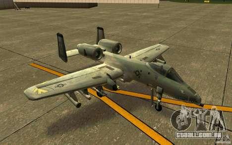 A-10 Warthog para GTA San Andreas esquerda vista