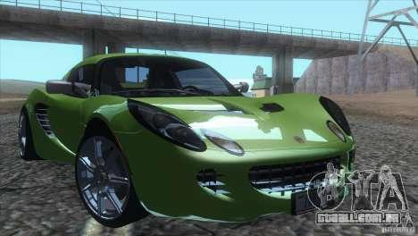 Lotus Elise para GTA San Andreas vista interior