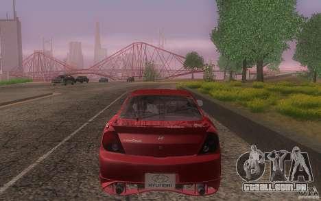 Hyundai Tiburon V6 Coupe tuning 2003 para GTA San Andreas vista superior