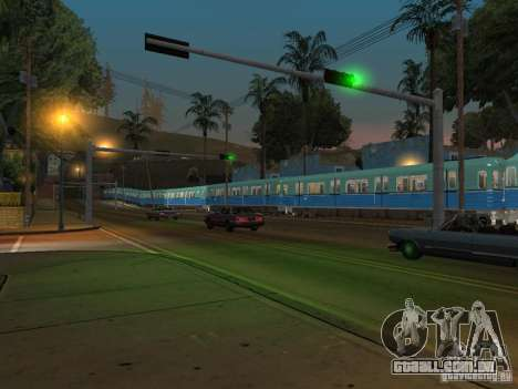 Metro e para GTA San Andreas vista traseira