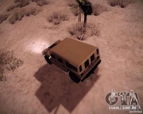 Hummer H1 Alpha para GTA San Andreas traseira esquerda vista