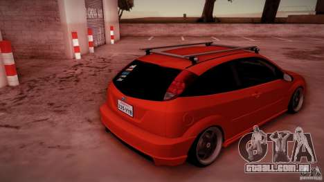Ford Focus SVT Clean para GTA San Andreas vista inferior