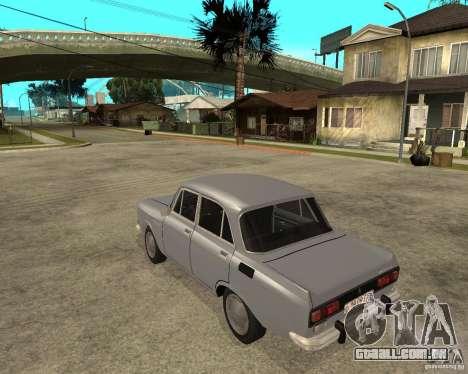 AZLK Moskvich 2140- para GTA San Andreas esquerda vista