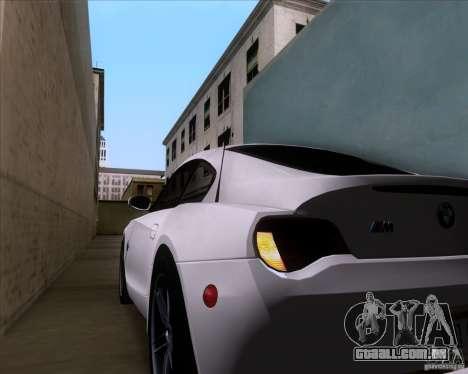 BMW Z4 M Coupe para GTA San Andreas vista inferior