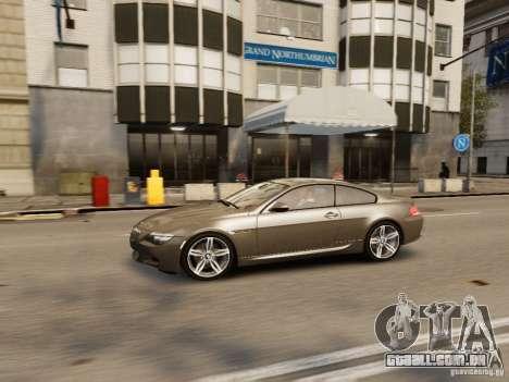 BMW M6 2010 para GTA 4 vista superior