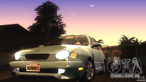 Toyota Corolla G6 Compact E110 US para vista lateral GTA San Andreas