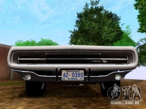 Dodge Charger RT para GTA San Andreas vista direita
