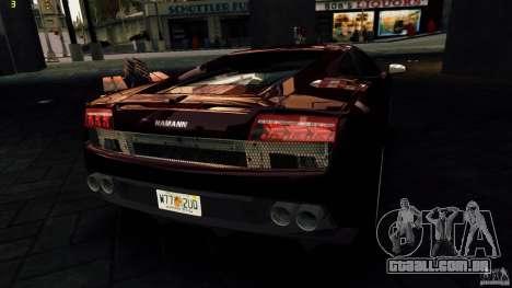 Lamborghini Gallardo Hamann para GTA 4 motor