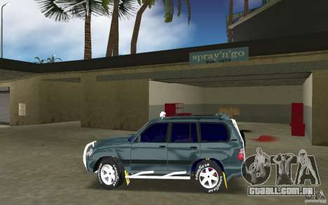 Toyota Land Cruiser 100 para GTA Vice City deixou vista