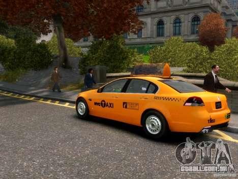 Holden NYC Taxi para GTA 4 traseira esquerda vista