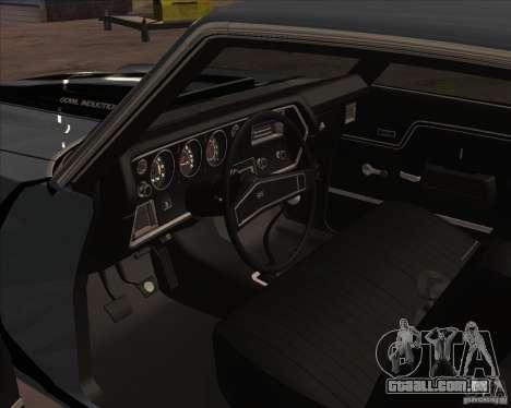 Chevrolet Chevelle SS para GTA San Andreas traseira esquerda vista