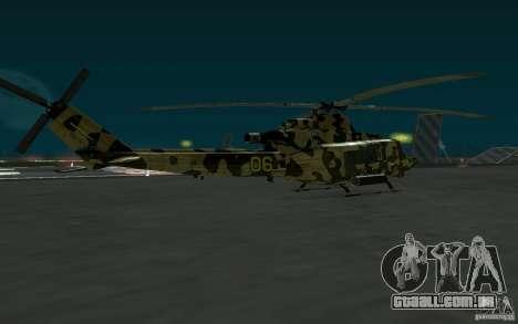 UH-1Y Venom para GTA San Andreas esquerda vista