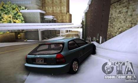 Honda Civic EK9 para GTA San Andreas traseira esquerda vista