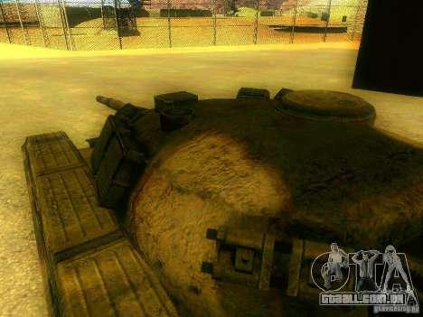 Tanque jogo S. T. A. L. k. e. R para GTA San Andreas vista interior