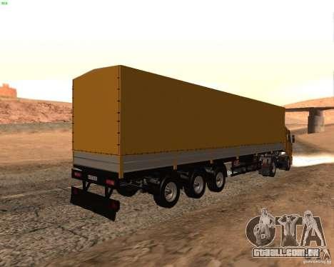Reboque Nefaz dos caminhoneiros 2 para GTA San Andreas esquerda vista