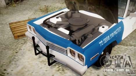 Dodge Monaco 1974 (bluesmobile) para GTA 4 vista de volta