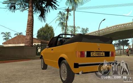 Volkswagen Golf MK1 Cabrio para GTA San Andreas