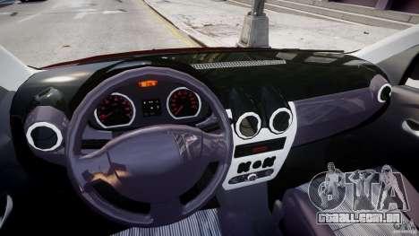 Dacia Logan 2007 Prestige 1.6 para GTA 4 vista de volta