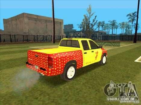 Tej Dodge RAM 2 Fast 2 Furious para GTA San Andreas vista direita