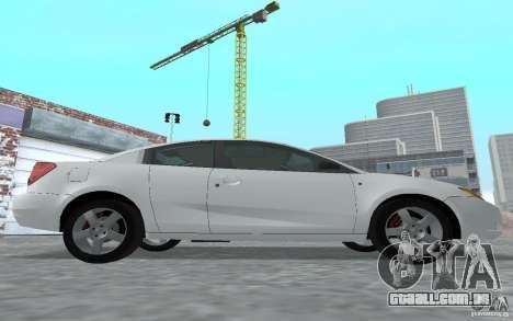 Saturn Ion Quad Coupe para GTA San Andreas traseira esquerda vista