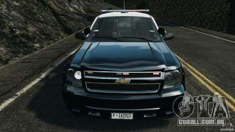 Chevrolet Tahoe Marked Unit [ELS] para GTA 4 vista interior