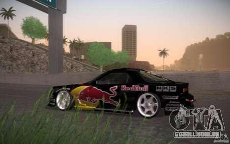 Mazda RX7 Madmikes Redbull para GTA San Andreas traseira esquerda vista