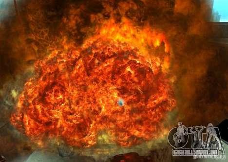 Novos efeitos de explosões para GTA San Andreas oitavo tela