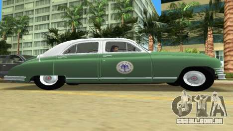 Packard Standard Eight Touring Sedan Police 1948 para GTA Vice City vista traseira