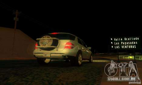 Mercedes-Benz ML500 para GTA San Andreas vista superior