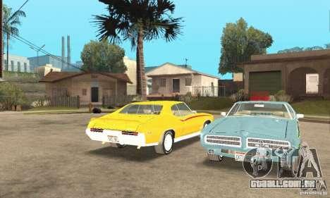 Pontiac GTO The Judge para GTA San Andreas vista interior