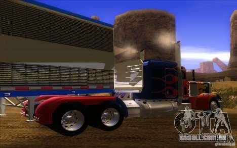 Truck Optimus Prime v2.0 para GTA San Andreas vista direita