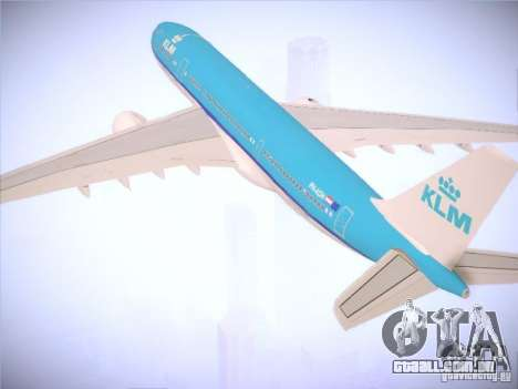 Airbus A330-200 KLM Royal Dutch Airlines para GTA San Andreas vista superior