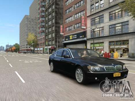 BMW 7 Series E66 2011 para GTA 4 vista superior