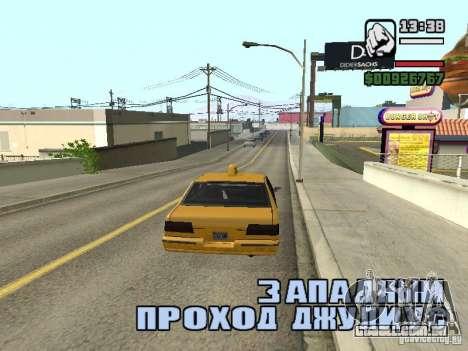 Tempo real para GTA San Andreas por diante tela